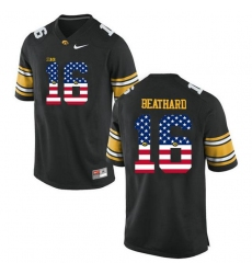 Iowa Hawkeyes #16 C.J Beathard Black USA Flag College Football Limited Jersey