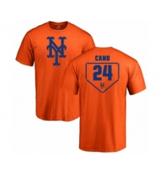 Baseball New York Mets #24 Robinson Cano Orange RBI T-Shirt