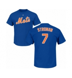Baseball New York Mets #24 Robinson Cano Royal Blue Name & Number T-Shirt