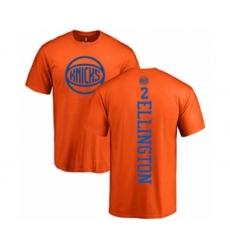 Basketball New York Knicks #2 Wayne Ellington Orange One Color Backer T-Shirt