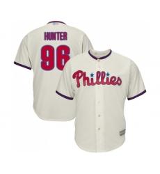 Men's Philadelphia Phillies #96 Tommy Hunter Replica Cream Alternate Cool Base Baseball Jersey