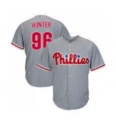 Men's Philadelphia Phillies #96 Tommy Hunter Replica Grey Road Cool Base Baseball Jersey
