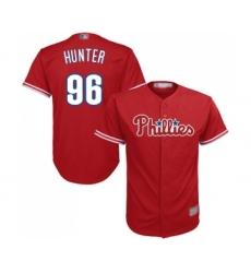 Men's Philadelphia Phillies #96 Tommy Hunter Replica Red Alternate Cool Base Baseball Jersey