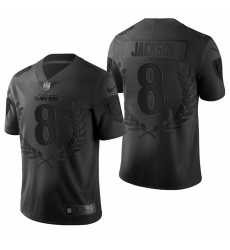 Men's Baltimore Ravens #8 Lamar Jackson Black Nike Souvenir Edition Limited Jersey