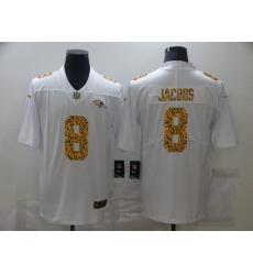 Men's Baltimore Ravens #8 Lamar Jackson White Nike Leopard Print Limited Jersey