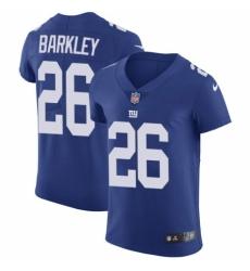Men's Nike New York Giants #26 Saquon Barkley Royal Blue Team Color Vapor Untouchable Elite Player NFL Jersey