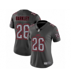 Women's New York Giants #26 Saquon Barkley Limited Gray Static Fashion Football Jersey