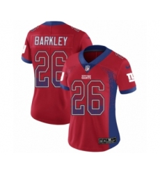 Women's Nike New York Giants #26 Saquon Barkley Limited Red Rush Drift Fashion NFL Jersey