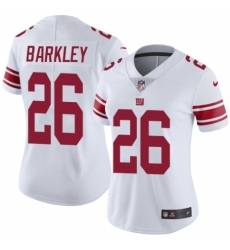 Women's Nike New York Giants #26 Saquon Barkley White Vapor Untouchable Limited Player NFL Jersey