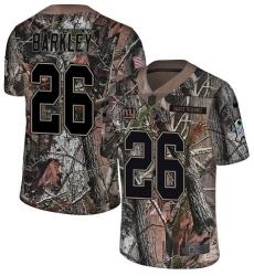 Youth Nike New York Giants #26 Saquon Barkley Limited Camo Rush Realtree NFL Jersey