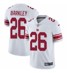 Youth Nike New York Giants #26 Saquon Barkley White Vapor Untouchable Elite Player NFL Jersey