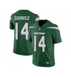 Men's New York Jets #14 Sam Darnold Green Team Color Vapor Untouchable Limited Player Football Jersey