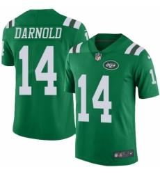 Men's Nike New York Jets #14 Sam Darnold Limited Green Rush Vapor Untouchable NFL Jersey