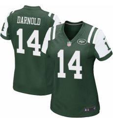 Women's Nike New York Jets #14 Sam Darnold Game Green Team Color NFL Jersey
