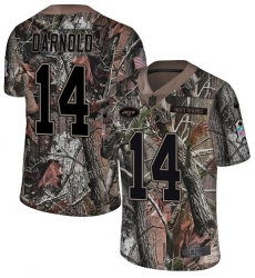 Youth Nike New York Jets #14 Sam Darnold Limited Camo Rush Realtree NFL Jersey