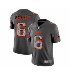 Men's Cleveland Browns #6 Baker Mayfield Limited Gray Static Fashion Limited Football Jersey