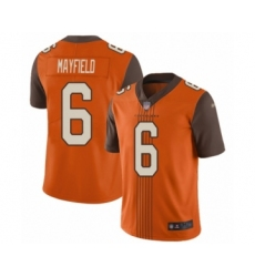 Men's Cleveland Browns #6 Baker Mayfield Limited Orange City Edition Football Jersey