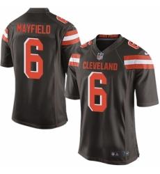 Men's Nike Cleveland Browns #6 Baker Mayfield Game Brown Team Color NFL Jersey