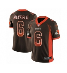 Men's Nike Cleveland Browns #6 Baker Mayfield Limited Brown Rush Drift Fashion NFL Jersey