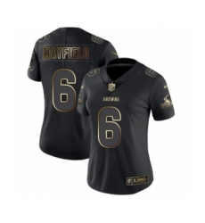 Women's Cleveland Browns #6 Baker Mayfield Black Gold Vapor Untouchable Limited Football Jersey