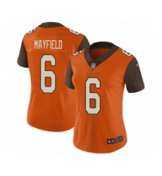 Women's Cleveland Browns #6 Baker Mayfield Limited Orange City Edition Football Jersey