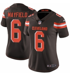 Women's Nike Cleveland Browns #6 Baker Mayfield Brown Team Color Vapor Untouchable Limited Player NFL Jersey