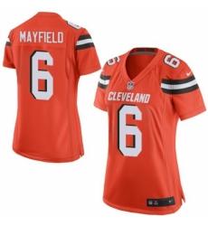 Women's Nike Cleveland Browns #6 Baker Mayfield Game Orange Alternate NFL Jersey