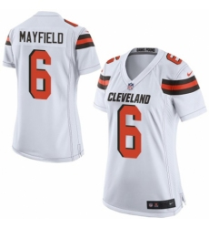 Women's Nike Cleveland Browns #6 Baker Mayfield Game White NFL Jersey