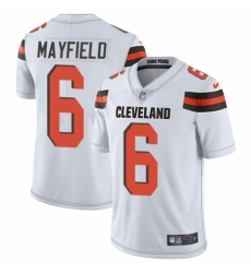 Youth Nike Cleveland Browns #6 Baker Mayfield White Vapor Untouchable Limited Player NFL Jersey