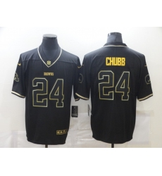 Men's Cleveland Browns #24 Nick Chubb Olive Gold Nike 2020 Salute To Service Limited Jersey