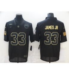 Men's Los Angeles Chargers #33 Derwin James jr Black Nike 2020 Salute To Service Limited Jersey