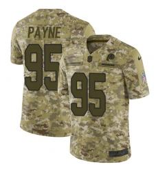 Men's Nike Washington Redskins #95 Da'Ron Payne Burgundy Limited Camo 2018 Salute to Service NFL Jersey