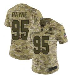 Women's Nike Washington Redskins #95 Da'Ron Payne Limited Camo 2018 Salute to Service NFL Jersey