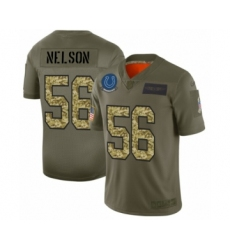 Men's Indianapolis Colts #56 Quenton Nelson 2019 Olive Camo Salute to Service Limited Jersey