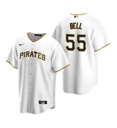 Men's Nike Pittsburgh Pirates #55 Josh Bell White Home Stitched Baseball Jersey