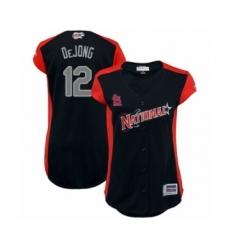 Women's St. Louis Cardinals #12 Paul DeJong Authentic Navy Blue National League 2019 Baseball All-Star Jersey
