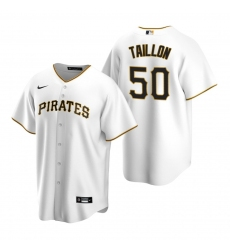 Men's Nike Pittsburgh Pirates #50 Jameson Taillon White Home Stitched Baseball Jersey