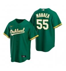 Men's Nike Oakland Athletics #55 Sean Manaea Green Alternate Stitched Baseball Jersey