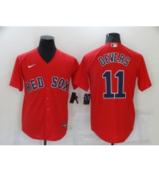 Men's Boston Red Sox #11 Rafael Devers Red Game Baseball Jersey