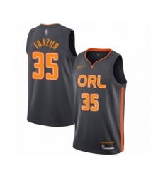Men's Orlando Magic #35 Melvin Frazier Swingman Charcoal Basketball Jersey - 2019 20 City Edition