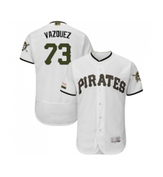 Men's Pittsburgh Pirates #73 Felipe Vazquez White Alternate Authentic Collection Flex Base Baseball Jersey