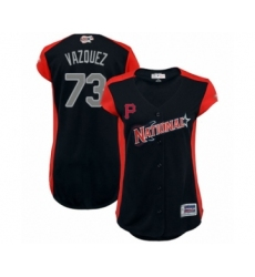 Women's Pittsburgh Pirates #73 Felipe Vazquez Authentic Navy Blue National League 2019 Baseball All-Star Jersey