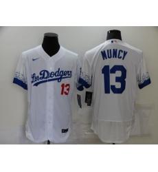 Men's Nike Los Angeles Dodgers #13 Max Muncy White Elite City Player Jersey