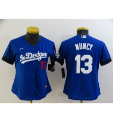 Women's Nike Los Angeles Dodgers #13 Max Muncy Blue City Player Jersey