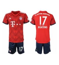 2018-2019 Bayern Munich home 17 Club Soccer Jersey