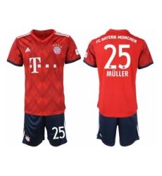 2018-2019 Bayern Munich home 25 Club Soccer Jers