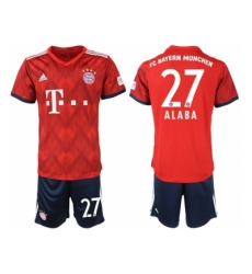 2018-2019 Bayern Munich home 27 Club Soccer Jersey