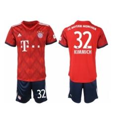 2018-2019 Bayern Munich home 32 Club Soccer Jersey