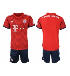 2018-2019 Bayern Munich home blank Club Soccer Jersey