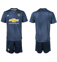 2018-2019 Manchester united away blank Club Soccer Jersey